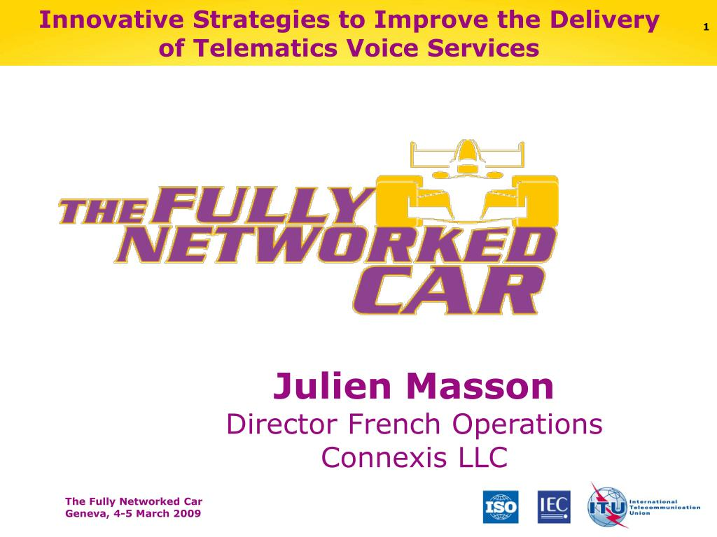 innovative strategies to improve the delivery of telematics voice services l.