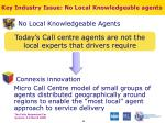 key industry issue no local knowledgeable agents