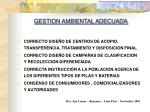 gestion ambiental adecuada