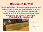 us quotes for 200