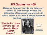 us quotes for 400