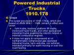 powered industrial trucks 1910 178