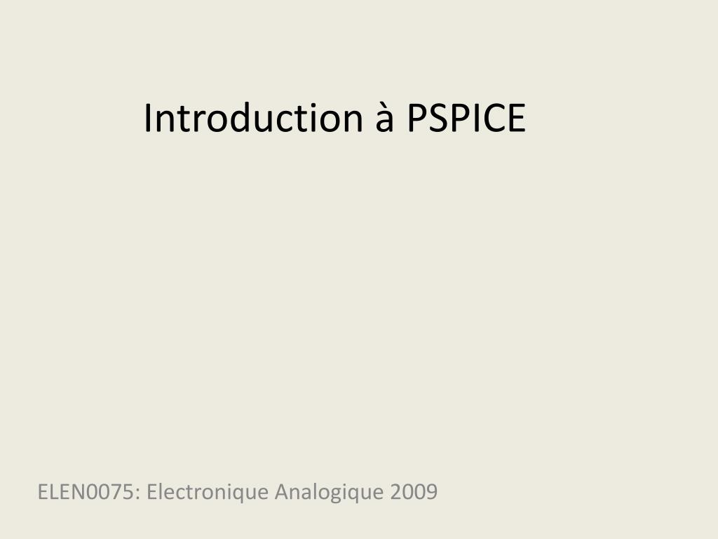 introduction pspice l.