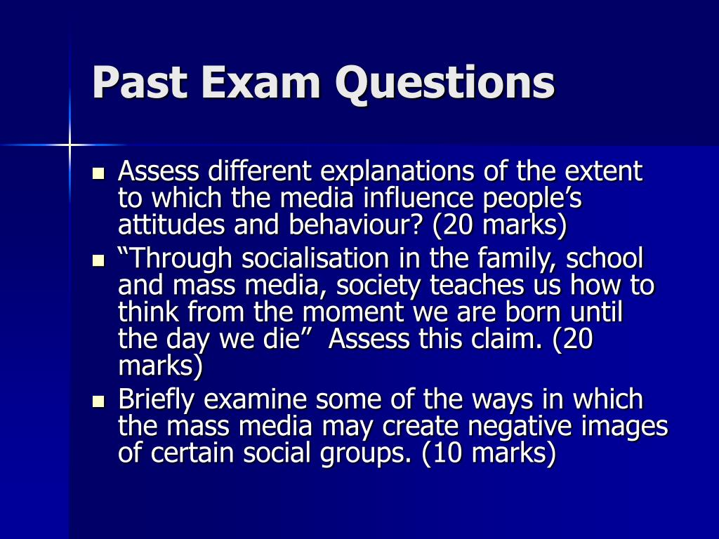 past exam questions l.