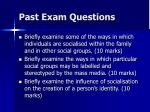 past exam questions2