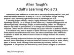 allen tough s adult s learning projects