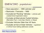 emfac2002 populations
