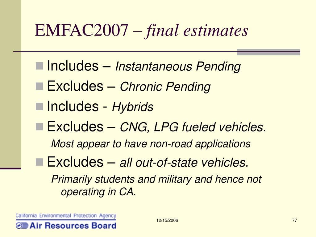 EMFAC2007 –