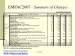 emfac2007 summary of changes