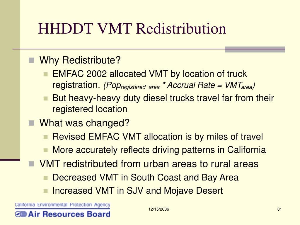 HHDDT VMT Redistribution