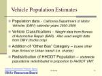 vehicle population estimates