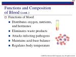 functions and composition of blood cont