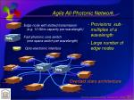 agile all photonic network