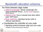 bandwidth allocation schemes