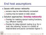 end host assumptions