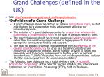 grand challenges defined in the uk