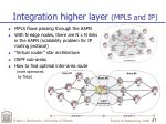 integration higher layer mpls and ip