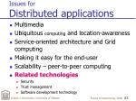 issues for distributed applications