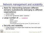 network management and scalability