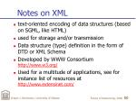notes on xml