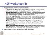 nsf workshop ii