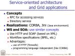 service oriented architecture and grid applications