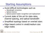 starting assumptions