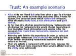 trust an example scenario