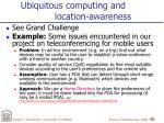 ubiquitous computing and location awareness