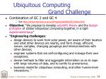 ubiquitous computing grand challenge