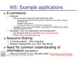 ws example applications