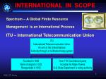 international in scope