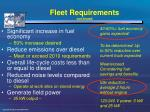 fleet requirements continued