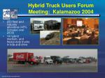 hybrid truck users forum meeting kalamazoo 2004