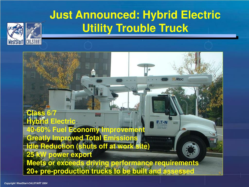 Just Announced: Hybrid Electric Utility Trouble Truck