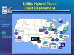 utility hybrid truck fleet deployment