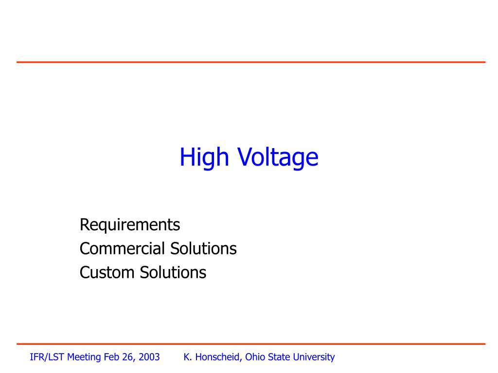 high voltage l.