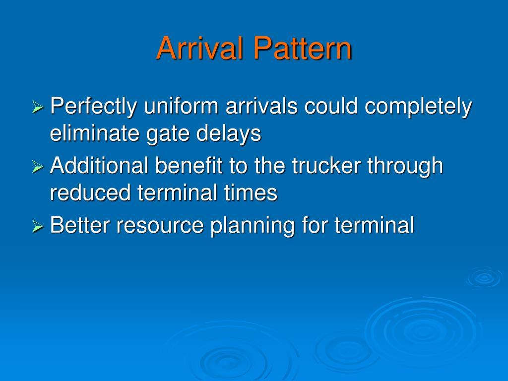 Arrival Pattern