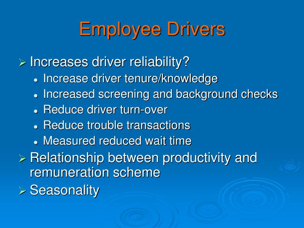 Employee Drivers