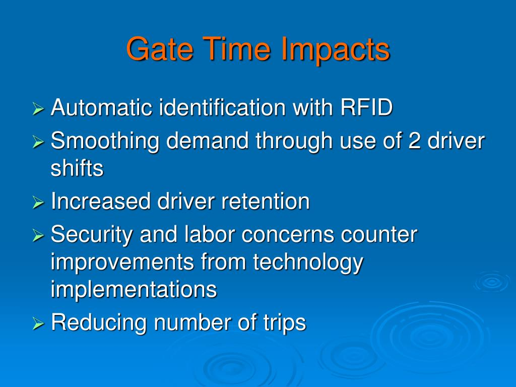 Gate Time Impacts