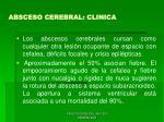 absceso cerebral clinica