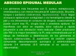 absceso epidural medular