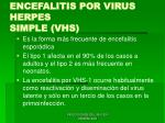 encefalitis por virus herpes simple vhs