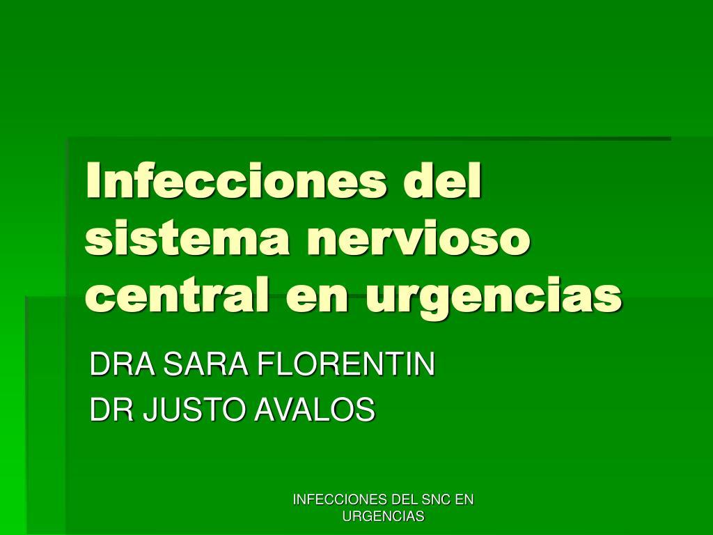infecciones del sistema nervioso central en urgencias l.