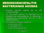 meningoencefalitis bacterianas agudas