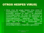 otros hespes virus