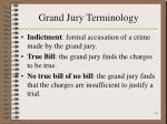 grand jury terminology