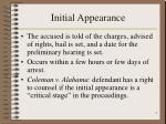 initial appearance