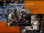 obscure scale on oak
