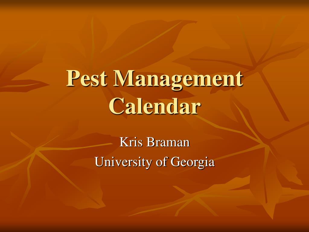 pest management calendar l.